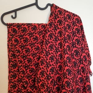 J. CREW red and black scarf